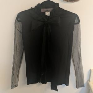 Lanvin river 2006 button down bow cardigan